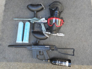 Paint Ball Guns with Accessories