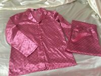 Pink satin PJ set size medium