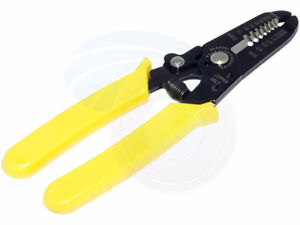 Precision Steel Cutter Stripper 10-22AWG Gauge Wire Tool Pliers