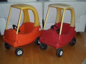 2 voitures auto little tikes extérieur jouet jeux