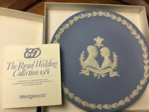 Commemorative Wedgewood plate of Diana and Charles' Wedding