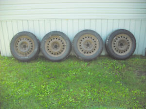 SALE! Winter Tires 215 / 60 R17 96T w/ rims $87.50 per, no tax