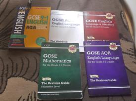 GCSE English + Maths revision books
