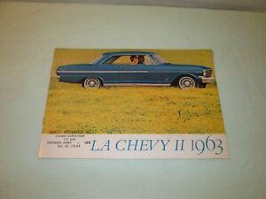 Brochure auto antique. Chevy II 1963
