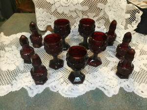 AVON RUBY RED CAPE COD GLASS