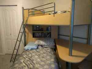 Twin size LOFT bed + Twin bed for sale!!!