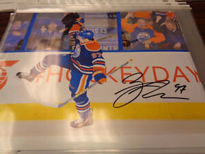 CONNOR MCDAVID SIGNED AND CERTIFIED 8X10 PRINT ONLY $149.99!