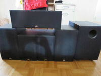 REDUCED: ONKYO 7.1 AV receiver & PSB 5.1 Speakers w 4 stands
