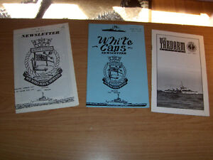 3 CANADIAN NAVY NEWSLETTERS-YARDARM-WHITE ENSIGN-1990'S