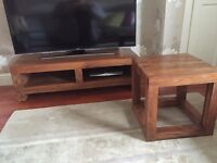 Coffee Table/TV MEDIA Unit & Matching Side Table
