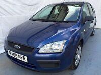 2006 Ford Focus 1.6 LX 5dr Blue / 2keys,/2 Owner/Hpi clear/MOT 30/01/2018
