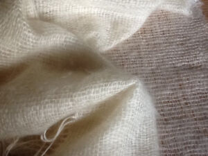 Mohair throw blanket Handwoven
