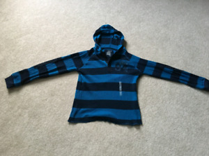 Old Navy youth medium striped hoodie (age 9-13 yrs.)