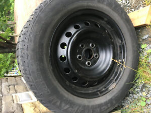 Tires & steel rims