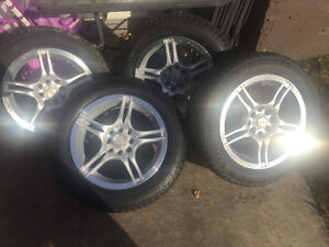 15 inch winter American race rims and tires for sale