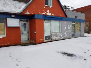 Commercial space for rent with a parking in front. $500+tax