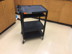 Media / Utility Cart with Power Supply