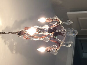 Chandelier perfect for a guest room