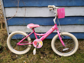 Kids bike, age 4-6 years, with accessories