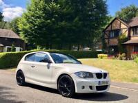 2010 59 BMW 1 SERIES 120i M SPORT Auto 2.0 Petrol 3dr Hatchback WHITE