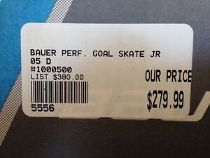 Youth size 5D goalie skates - Bauer -performance Windsor Region Ontario image 6