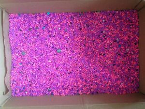 Lightly used and clean pink and purple Aquarium Gravel