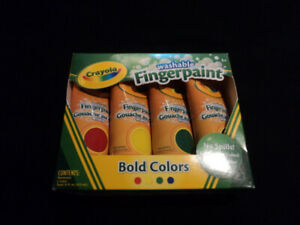**NEW in BOX** Set of 4 Crayola Washable Finger Paint