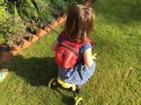 Red ladybird 'BeCute' backpack/reins