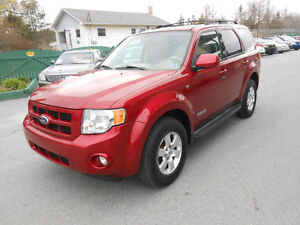 2008 FORD ESCAPE 5 DOOR LTD SUV,3 YEAR WARRANTY INCLUDED