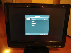 "19"" tv/dvd with wall mount."