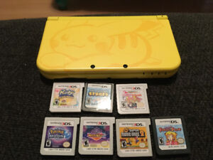 Nintendo 3DS XL Pikachu edition and games