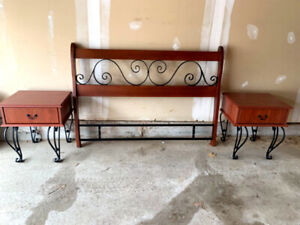 set of double bed frame