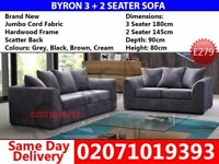 ***75%OFF TODAY *** Brand New Dylan Grey 3 and 2 Seater Sofa *** Elkland