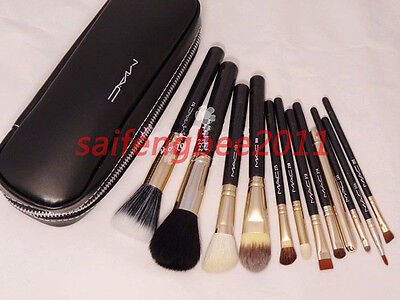 12 Pcs Kits New Pro Cosmetic Brush Makeup Set Make up Tool Dres 3 Black Case on Rummage