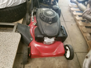 Two lawn mowers and landscaping equipment for sale