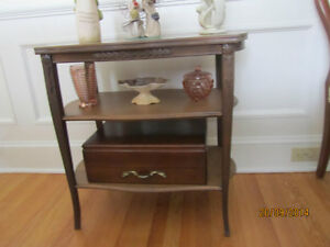 Victorian Console Side Server Entertainment Table
