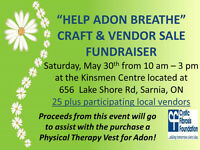 """HELP ADON BREATHE"" CRAFT & VENDOR SALE FUNDRAISER"