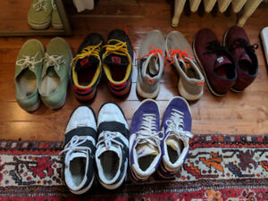 Mens Shoes Sneakers Lot of 6 - Nike, New Balance, Vans