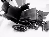 TILT WHEELCHAIR LIKE NEW with NECK and FOOT SUPPORT