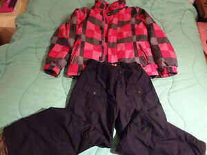Winter coat SNO and pant Girl ORAGE