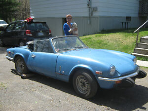 Antique 1974 Triumph Spitfire 1500