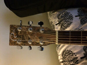 Selling duck blind guitar with case, capo and tuner Kawartha Lakes Peterborough Area image 3