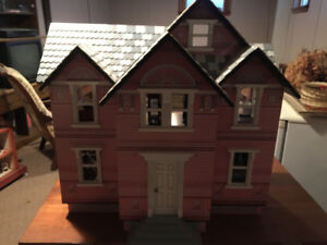 Melissa and Doug dollhouse and furniture