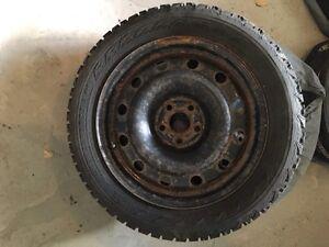 Winter tires on rims $550obo Kawartha Lakes Peterborough Area image 3