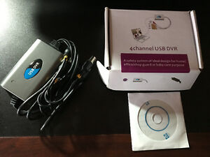 New 4 channel USB DVR. $10.