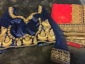 BRAND NEW 2019 INDIAN ATTIRE -WOMENS FASHION-NAVY BLUE LENGHA