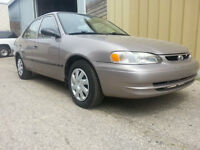 1999 Corolla 111 kms BC Car No Rust COLD AC Clean Saftied Minty