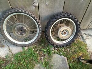 CR85 wheels and tires