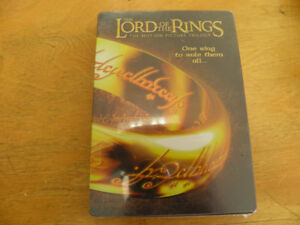 THE LORD OF THE RINGS Trilogy DVD Collection in a Metal Case