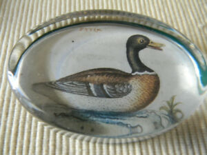 Rare Vintage Past Times England Paperweight Mallard Duck